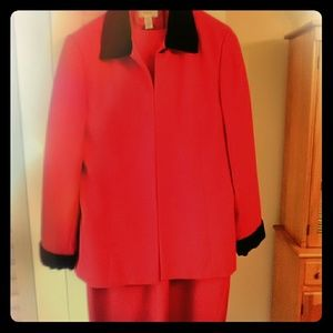 Red Talbots Dress Suite